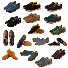 Suede European style leather Shoes Men's oxfords Casual-Blue FK