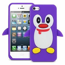 NEW Cute Penguin Silicone Soft Case Cover for Apple iPhone 5 5S