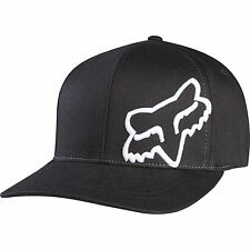 NEW FOX FLEX 45 FLEXFIT HAT FLEX FIT BLACK WHITE CAP HAT LID MENS ADULT GUYS