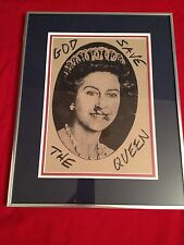 GOD SAVE THE QUEEN SEX PISTOLS/ JAMIE REID PRINT
