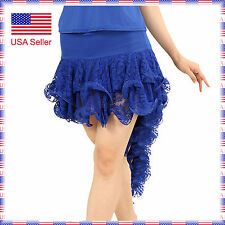 SFS022BU New Sexy Ladies Ballroom Smooth Velvet Latin Tango Dance Short Skirt