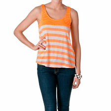 DNA Couture Women's Zebra Print and Striped Tank