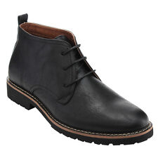 FERRO ALDO Men's Lace Up High-Top Chukka Desert Work Boots BLACK;BROWN