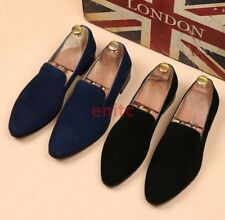 Men Synthetic Suede Leather Shoes Casual Formal Dress SlipOn Pointed Loafer N7-4