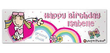 Personalised Bang On The Door Groovy Chick Banner Birthday