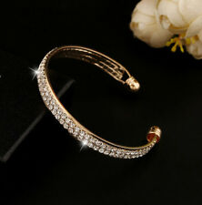 Bracelet Bangle Cuff Style Jewelry 2016 Women Rhinestone Crystal Fashion Gold