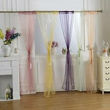 Candy Color Door Window Voile Curtain Drape Panel Scarf Assorted Scarf Sheer