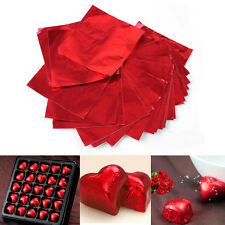 100Pcs Square Candy Package Foil Paper Chocolate Lolly Foil Wrappers Square Pop
