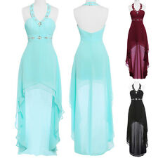 Sexy Short Long Chiffon Evening Formal Party Cocktail Dress Bridesmaid Prom Gown
