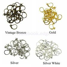 20PCS French Earwires Earring Hook With Blank Cup Leverback Earrings Findings
