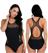 Women Sexy One Piece Monokini Bikini Set Swimsuit Swimwear Mesh Bodysuit Bathing