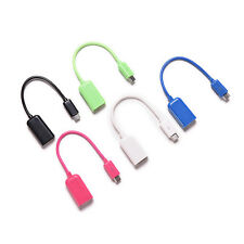 Mini Male to USB 2.0 Female Jack OTG Host Adapter Short Cable For Mobile Phone X