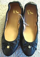NEW REPORT CANDYLAND SNAKESKIN BALLET SHOES BLACK LADIES SIZES 7 - 7.5
