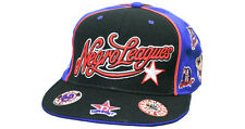 NLBM Mens Negro Leagues Baseball Blue Fitted Cap