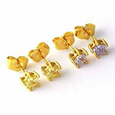 Fashion 18K Yellow Gold Filled crystal Crystal Womens Star Stud earing