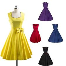 New Sexy Women Vintage Style 50'S 60'S Swing Pinup Retro Party Dress Sleeveless