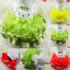 Cute Pet Puppy Small Dog Summer Clothes Tutu Dress Princess Lace Skirt Apparel