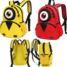 Kids Boys Girls 3D Minions Big Eye Monster School Bag Shoulder Backpack Rucksack