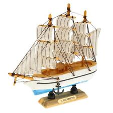 Wood Handcrafted Model Ship Nautical Decoration Sailboat Mediterranean GIFT