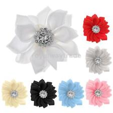 DIY 10pcs Satin Ribbon Flower Appliques Wedding Decoration Supplies
