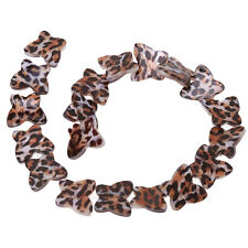 1string Fashion Leopard Pattern Butterfly Shell Loose Spacer Charms Bead Lots J