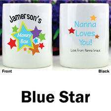 Personalised Kids Money Boxes -Star - Add a Name & Message