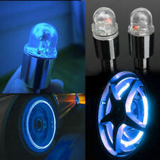 2 x LED Neon Car Bike Wheel Tire Tyre Valve Dust Cap Spoke Lights Cool HC
