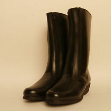 Draper Of Glastonbury High Leather Boots Sheepskin Lined Bargain £55