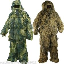 ARMY SAS SNIPER SUIT GHILLIE SUIT OUTFIT JACKET TROUSERS HAT RIFLE WRAP DESERT