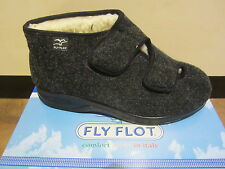 Fly Flot Mens Slippers Touch Fastener, Black 880277 NEW