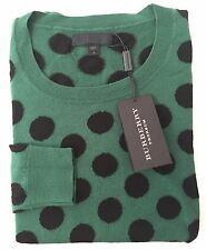 NWT $995 Burberry Prorsum RUNWAY Mens Green Polka Dot Wool Sweater S L AUTHENTIC