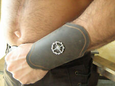 "Medieval Armor Viking Barbarian 5"" Bracers with Conchos"