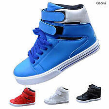 Men Casual High Top Shoes Breathable Board Sneakers Athletic Sporting Trainer