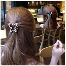 1x Hairclip Accessories Butterfly Hairpin Rhinestone Crystal Clamp Beautiful ZDK