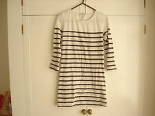 New Look ladies size 8 long sleeve white black mix tunic top