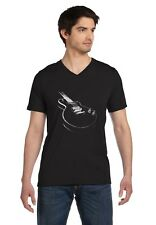 Gift for Guitarist Cool Musician Electric Guitar Printed V-Neck T-Shirt Guitar