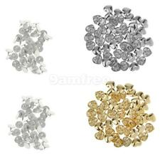 50 Sets Metal Heart Rivet Studs For Bags Shoes Clothes Leathercraft Spots Spike