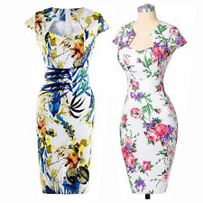 Sexy Women Ladies Rock Dress Pinup Retro Party Prom Bodycon Pencil Sexy Dress