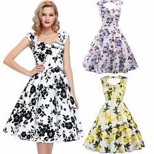 New Fashion Women Ladies Retro Pinup Party Dress Swing Evening Party Ball Dress