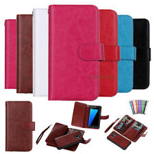 Luxury Magnetic 9 Card Slot PU Leather Flip Folio Wallet Cell Phones Case Cover