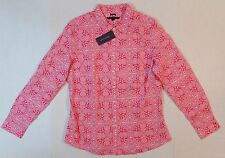 Tommy Hilfiger Women Button Front Long Sleeve Paisley V-Neck Blouse