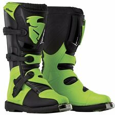NEW MENS ADULT MX MOTOCROSS ATV RIDING BOOTS THOR BLITZ CE BLACK GREEN