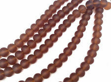 2 Strands 10x8mm Rondelle Sea Glass Frosted Beads You Pick Color