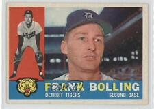 1960 Topps #482 Frank Bolling Detroit Tigers Baseball Card 2s9