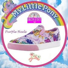 Iron Fist My Little Pony Merry Go Round Pastel Pink Pony Slip On's UK4-8 37-41