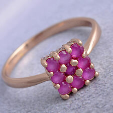 Cool 2.25 CTW Ruby Rose Gold Filled Womens Band Love Band Ring size 8 9