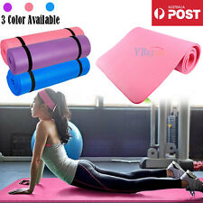 New 15MM Extra Thick NBR Yoga Mat  Non-Slip Gym Pilates Fitness Exercise Home AU
