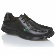 Kickers REASAN LACE Mens Teens Leather School/College Shoes Black Size 40-47