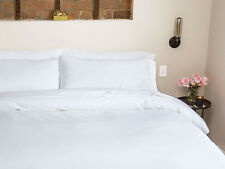 Complete Bedding Item 100% Pima Cotton 600TC White solid Choose Size & Set