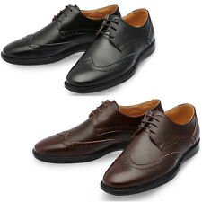 Mooda Mens Leather Wing Tip Shoes Casual Formal Oxfords Dress Shoes Temble